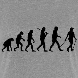 evolution of nordic walking T-Shirts - Women's Premium T-Shirt
