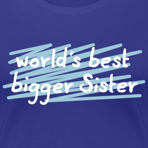 world's best big sis - 3 Farb Vektor T-Shirts - Frauen Premium T-Shirt