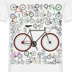 Cycling Love Fixie Road Bike T-Shirt - Men's T-Shirt