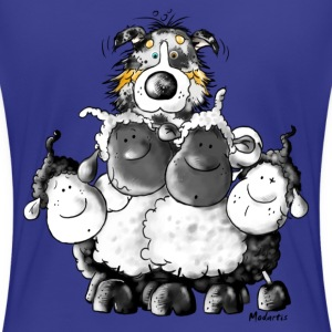 Australian Shepherd and sheep - Dog T-Shirts - Women's Premium T-Shirt