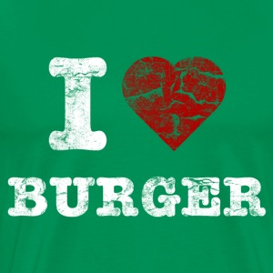 i love burger vintage light T-Shirts - Men's Premium T-Shirt