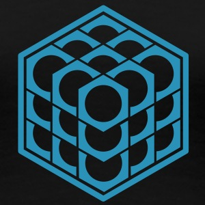 3D Cube - crop circle - Metatrons Cube - Hexagon / T-Shirts - Women's Premium T-Shirt