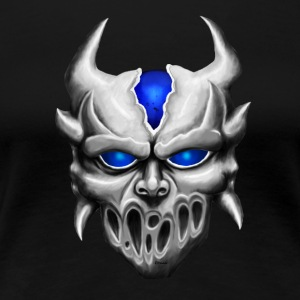 Demon with blue eyes T-shirts - Dame premium T-shirt