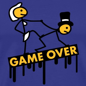 bachelor_party_game_over T-shirts - Premium-T-shirt herr
