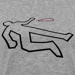 Drinks accident scene outline in 3D with beer bott T-Shirts - Men's Premium T-Shirt
