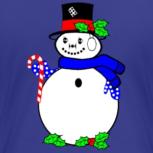 Snowman with candy suger cane T-Shirts - Women's Premium T-Shirt