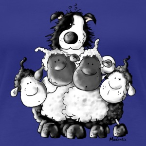 Border Collie and sheep - dog - t-shirt design T-Shirts - Women's Premium T-Shirt