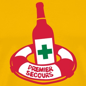 bouteille bouee secours bottle alcool Tee shirts - T-shirt Premium Homme