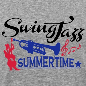 swing jazz summertime T-Shirts - Men's Premium T-Shirt