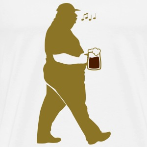 Fat Man Beer (2c)++2012 T-shirts - Premium-T-shirt herr