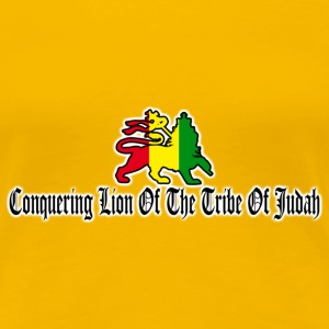 conquering lion of the tribe of judah T-Shirts - Women's Premium T-Shirt