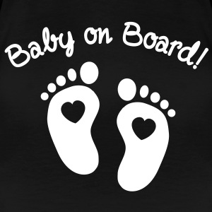 baby on board T-Shirts - Frauen Premium T-Shirt
