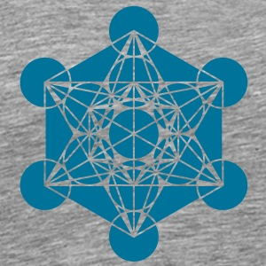 Metatrons Cube - Vector - Platonic Solids / T-Shir - Men's Premium T-Shirt