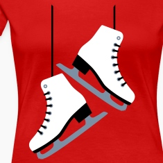 White Skates / skating T-Shirts