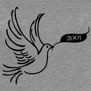Dove of Peace med År 2001 T-shirts - Dame premium T-shirt