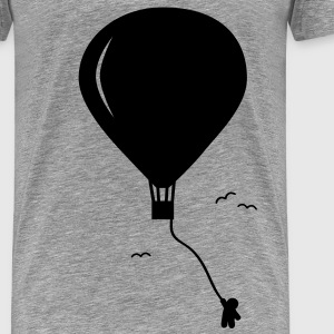 hot-air balloon guy  luftballon fyr  T-shirts - Herre premium T-shirt