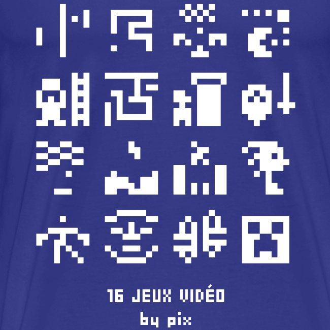 T-shirt-jeu 16·jeux·vidéo