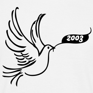Peace dove with year T-Shirts - Men's T-Shirt