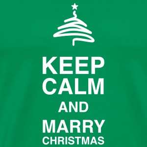 Keep Calm and merry Christmas T-Shirts - Herre premium T-shirt