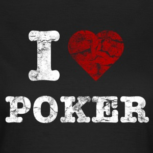 i_love_poker_vintage_hell T-shirts - Vrouwen T-shirt