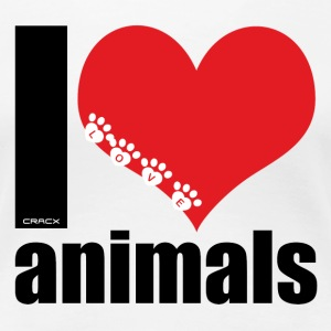 I love animals - Frauen Premium T-Shirt