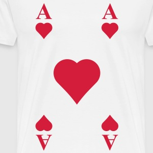 ace of hearts, playing card  T-Shirts - Men's Premium T-Shirt