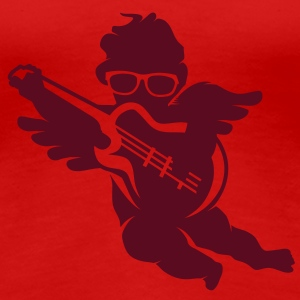 A cherub with cool glasses and an electric guitar T-Shirts - Women's Premium T-Shirt