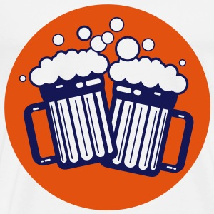 Beer Glasses (2c)++2012 T-Shirts - Men's Premium T-Shirt