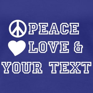 peace_love_and_2 T-Shirts - Women's Premium T-Shirt