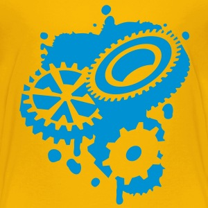Three gears as a graffiti Shirts - Kids' Premium T-Shirt