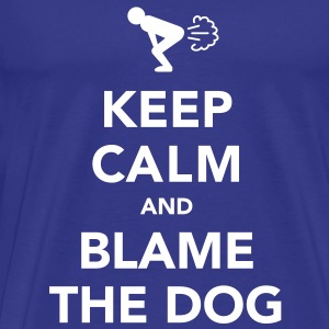Keep Calm and Blame the Dog - Men's Premium T-Shirt
