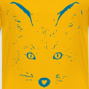 animal t-shirt fox jackal coyote eyes shape cat Shirts - Kids' Premium T-Shirt
