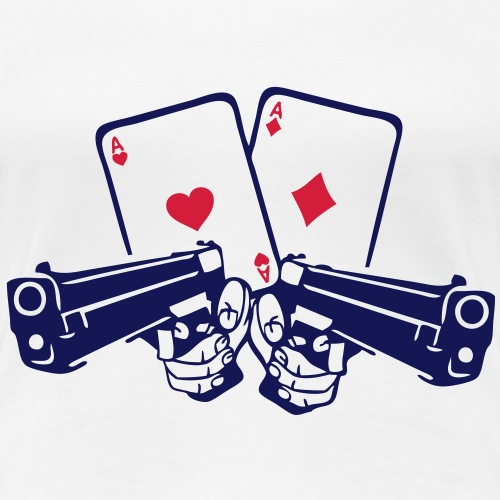 pistolet carte poker as arme flingue rev