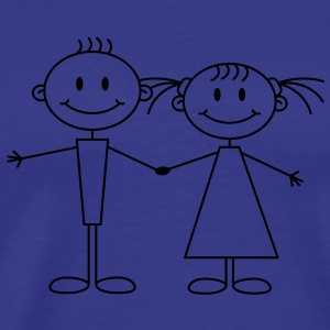 girl_and_boy Camisetas - Camiseta premium hombre