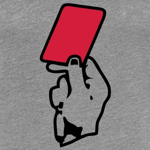 main hand carton rouge red card Tee shirts - T-shirt Premium Femme