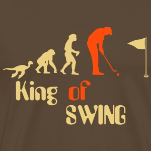 Evolution Golf King of Swing T-shirts - Herre premium T-shirt