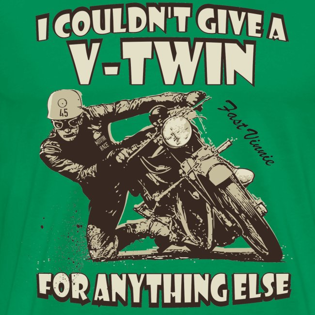 I couldn't give a Vee-Twin biker t-shirt