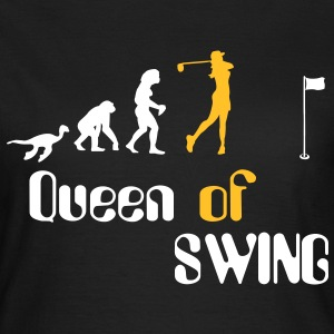 Queen Evolution of Swing Mujeres Golf  Camisetas - Camiseta mujer