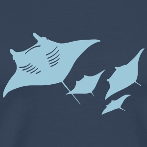manta ray fish scuba diving dive diver ocean T-Shirts - Men's Premium T-Shirt