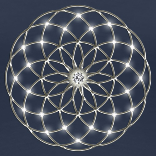 Flower of Life - Seed of Life - Tube Torus, digital, silver, energy, symbol, protection, powerful,