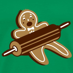 A rolling pin and a gingerbread man T-Shirts - Men's Premium T-Shirt