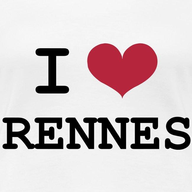 Tee shirt I love Rennes femme