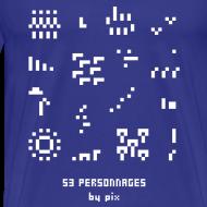 Motif ~ T-shirt-jeu 53·personnages