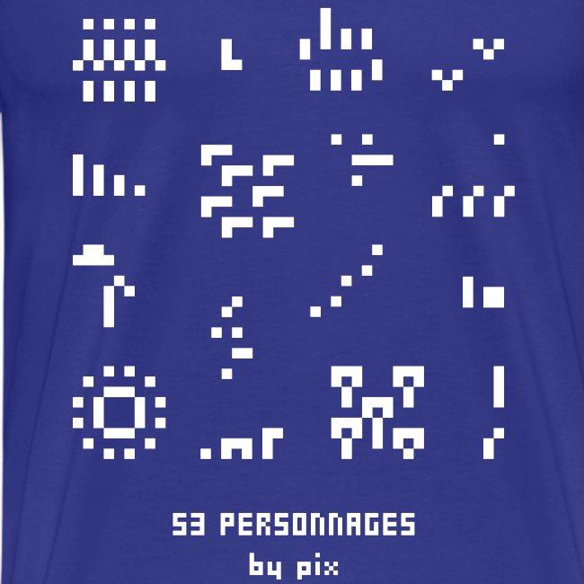 T-shirt-jeu 53·personnages
