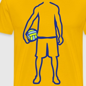 joueur volleyball waterpolo player trace Tee shirts - T-shirt Premium Homme