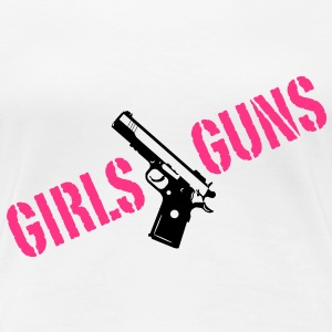 Girls love Guns  2c T-skjorter - Premium T-skjorte for kvinner