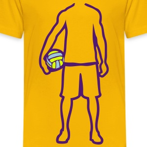 joueur volleyball waterpolo player trace Tee shirts - T-shirt Premium Enfant