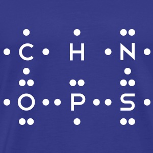 Ingredients of Life - CHNOPS (Monochrome) T-Shirts - Men's Premium T-Shirt