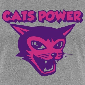 cats power 02 T-skjorter - Premium T-skjorte for kvinner
