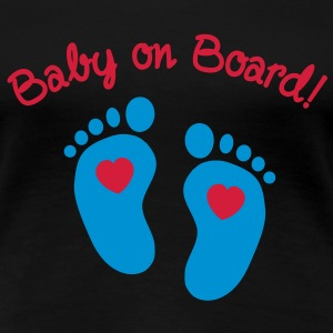 baby on board T-shirts - Vrouwen Premium T-shirt